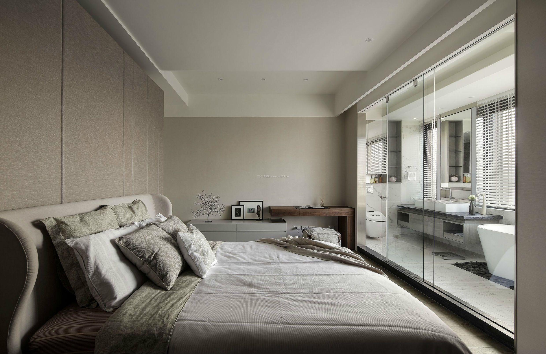 2018精装公寓卧室卫生间玻璃门设计图片