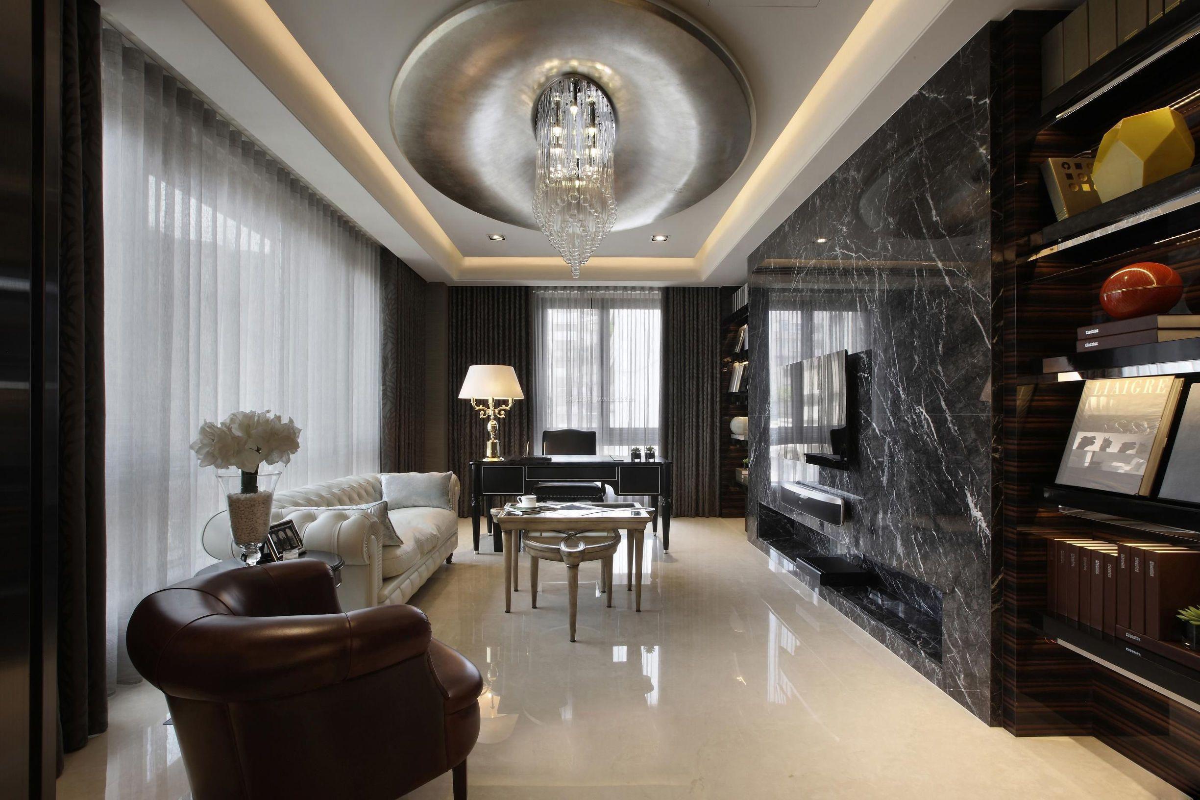 2018精装公寓客厅电视墙瓷砖图片_装修123效果图