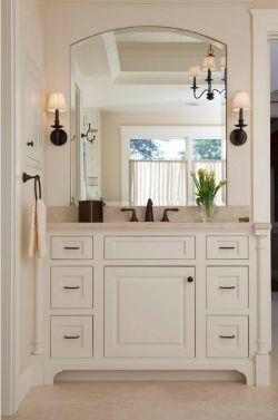 小戶型洗手臺鏡前燈設計圖片一覽