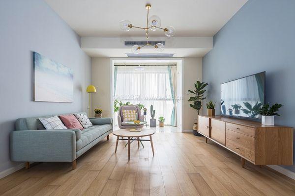 设计说明:设计师以明亮清爽的色彩结合了北欧简约和法式风格的优雅图片