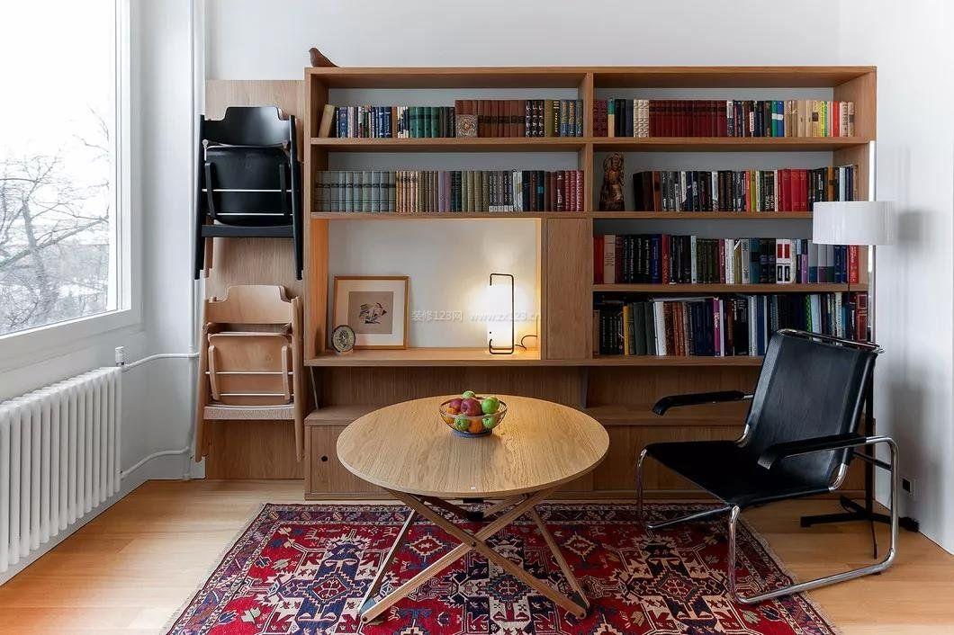 35平小户型书柜样式装修设计图赏析图片