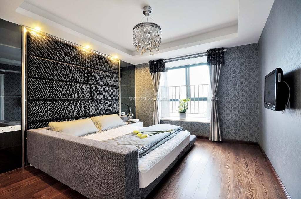 卧室墙纸装修效果图_2018年流行的卧室壁纸图案