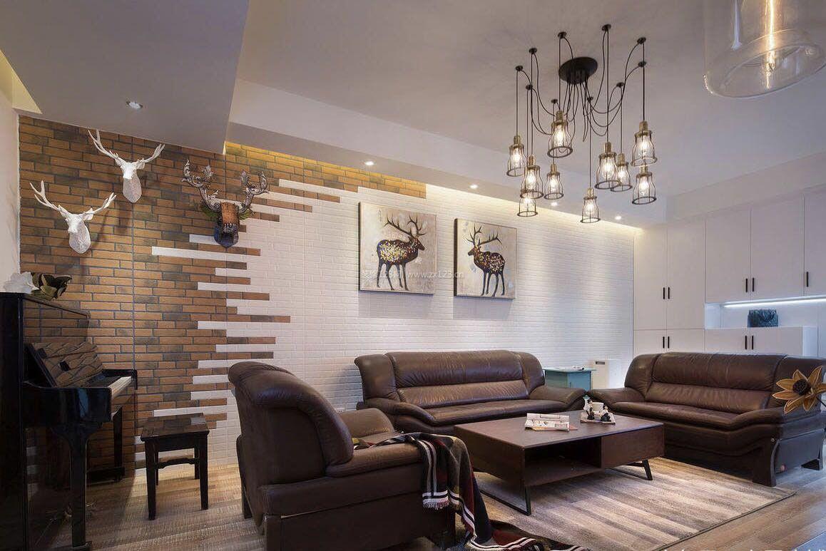 客厅顶部创意灯具装修效果图片