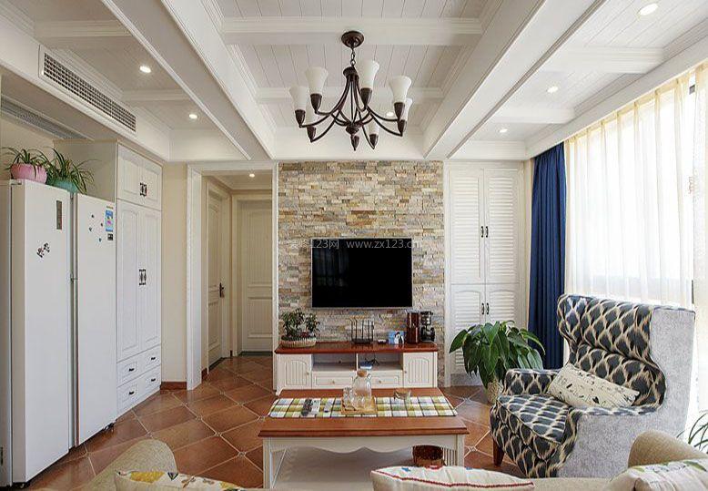 欧式田园小客厅顶部装修效果图图片