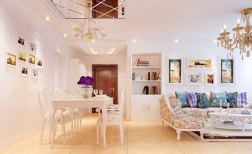 2018田园风格公寓客厅沙发装修图片