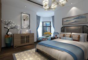 2018新中式卧室装修效果图 2018卧室飘窗榻榻米装修效果图图片