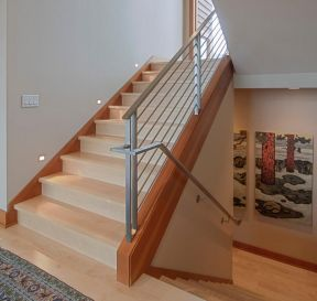 室內不銹鋼樓梯設計