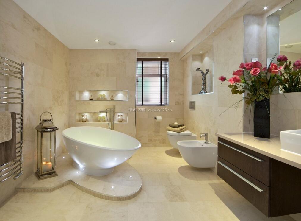 10平米卫生间浴缸造型装修设计图