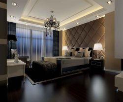 简欧式大卧室床头背景墙装修效果图大全