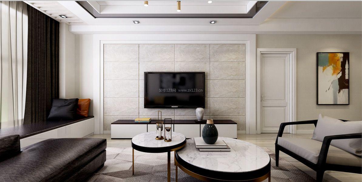 2018现代样板房装修效果图 2018客厅电视墙装修设计图