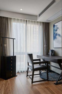 新中式书房窗帘效果图2018图片