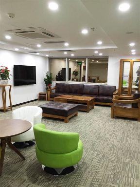 2018小型辦公室裝修 2018會客廳辦公家具沙發圖片