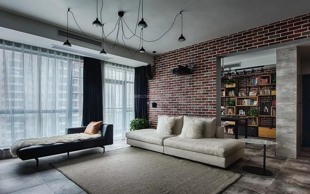 2018工业风格家装沙发背景墙效果图