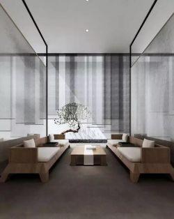 新中式別墅家居茶室裝修效果圖