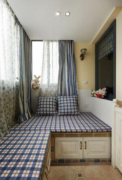 简约地中海风格阳台卧室装修图片欣赏