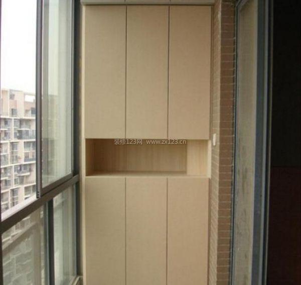 陽臺裝修是可以安裝柜子嗎?圖片