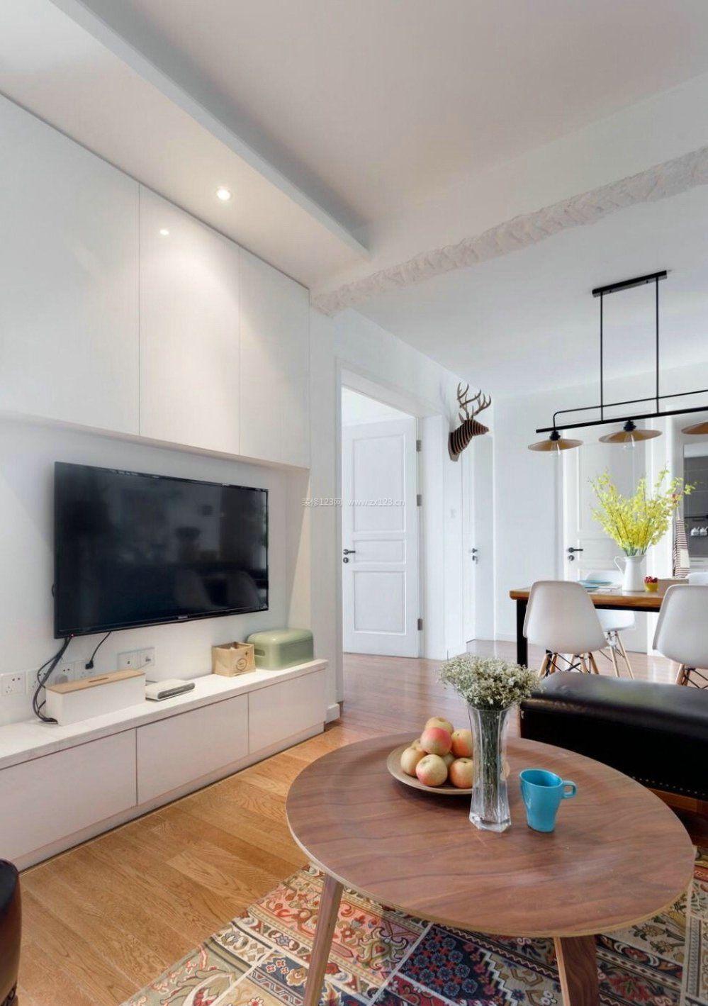2018北欧室内设计风格电视柜效果图