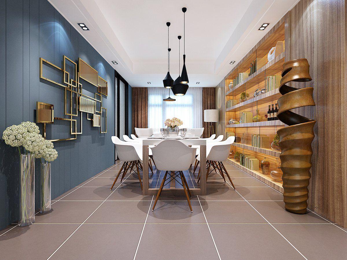2018北欧室内设计风格餐厅背景墙效果图