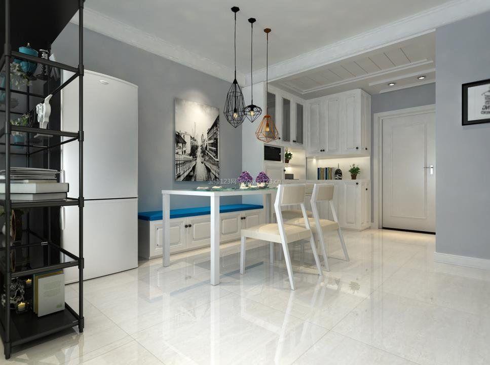 2018北欧室内设计风格餐厅地砖效果图