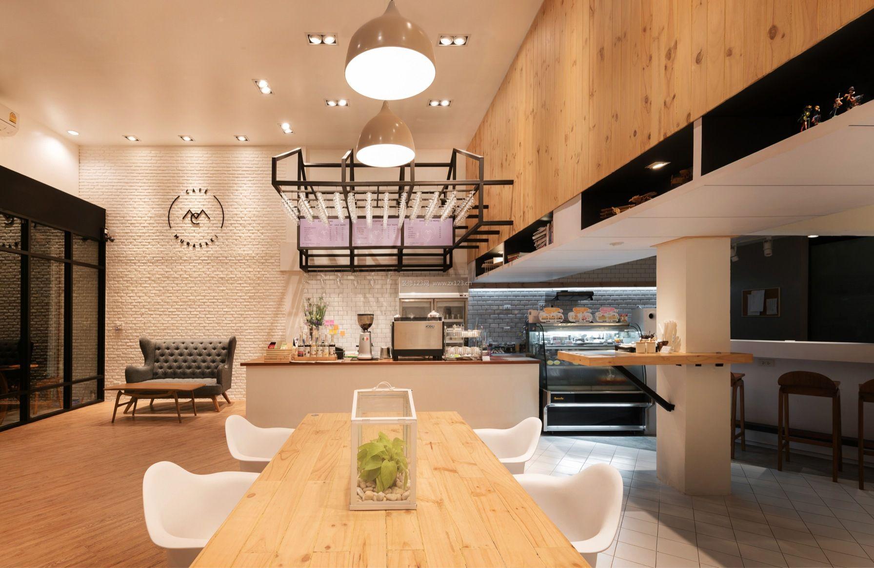 现代原木风格咖啡厅装修案例