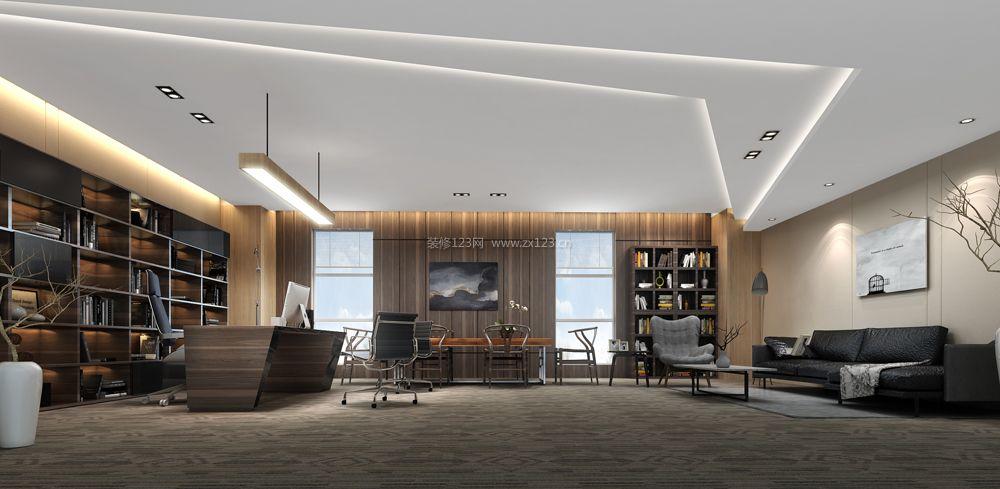 2018现代办公室效果图展示 2018办公室隔断设计