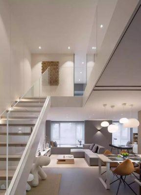 北欧loft公寓楼梯设计效果图图片