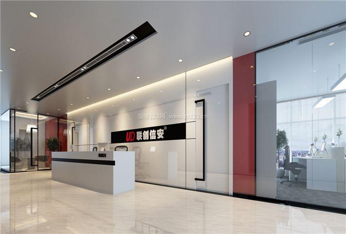 2018现代办公室设计效果图 前台背景墙设计图片图片