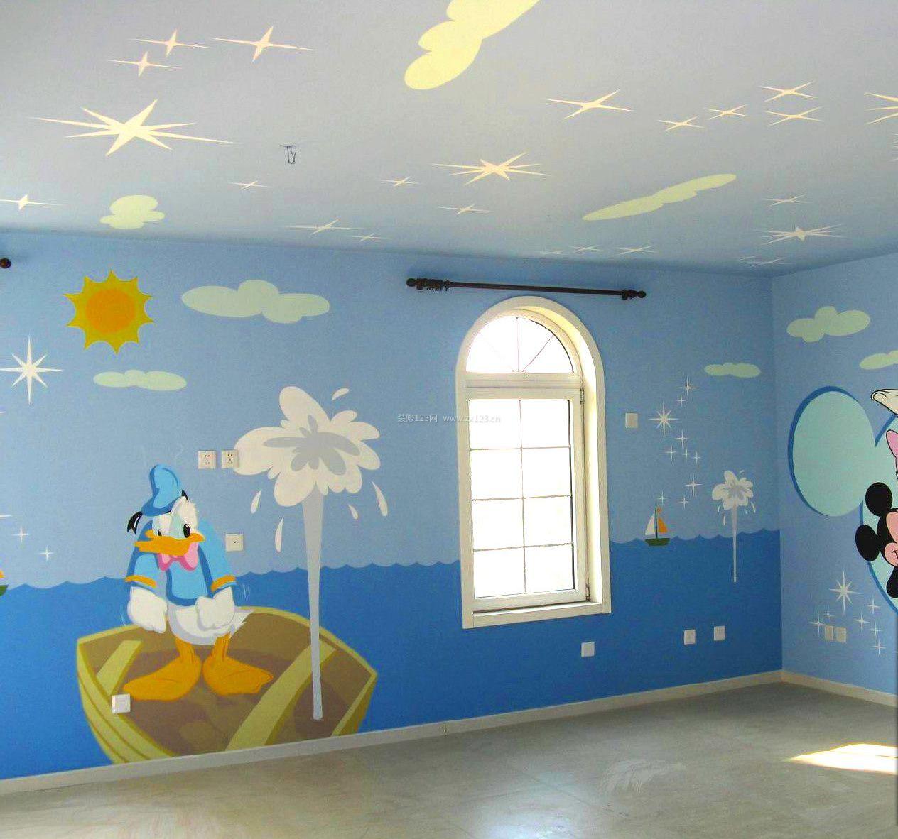 2018幼儿园环境墙绘背景墙设计图片