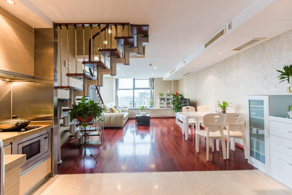 60平复式楼室内木地板设计图