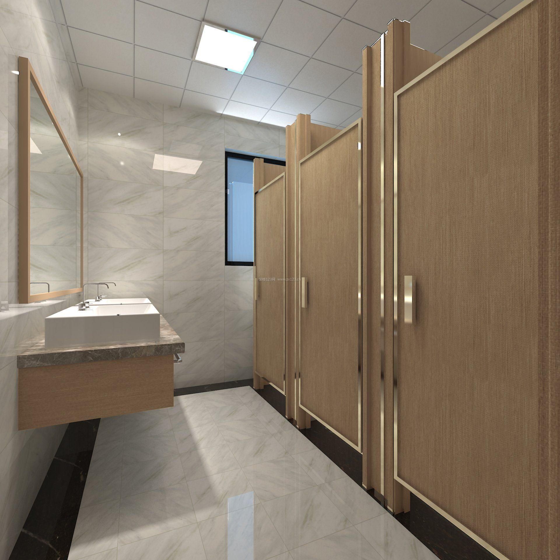 工装效果图 卫生间 2018办公室卫生间洗手盆装修效果图片 提供者