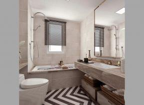 2018现代卫生间设计图大全 卫生间带浴缸装修效果图