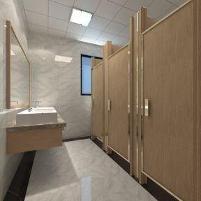 办公室卫生间装修效果图 2018洗手盆图片
