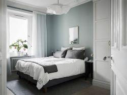 北歐主臥室床頭背景墻設計圖片