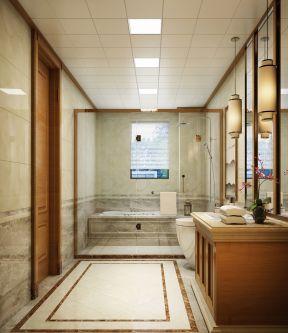 新中式卫生间装修效果图 卫生间带浴缸装修效果图