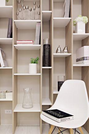 2018雅致现代简约家装效果图 2018开放式书柜设计图片图片