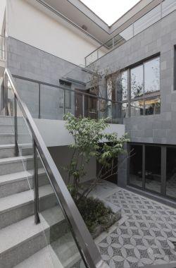 2018新中式别墅露天花园设计装修效果图