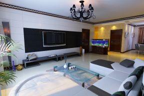 簡約現代客廳 簡約客廳電視背景墻圖片