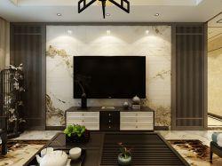 2018客厅新中式新款电视墙装修效果图