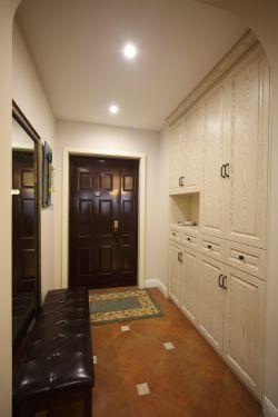 2018美式家装玄关鞋柜设计装修效果图片