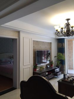 100平米房屋简美式客厅装修效果图片2017