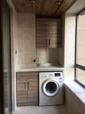 2018实用型简欧式客厅效果图 2018阳台洗衣机柜效果图图片