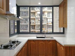 2018簡歐式廚房裝修圖片 廚房窗戶