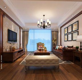 2020美式休闲风格客厅装修实景图-每日推荐