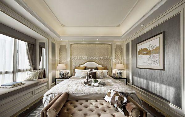 舒适欧式风格卧室飘窗装修效果设计图片图片
