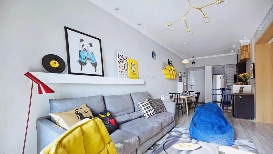 北欧风格客厅沙发颜色搭配装修效果图片图片