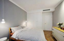 2018臥室簡約現代白色衣柜設計裝修效果圖片
