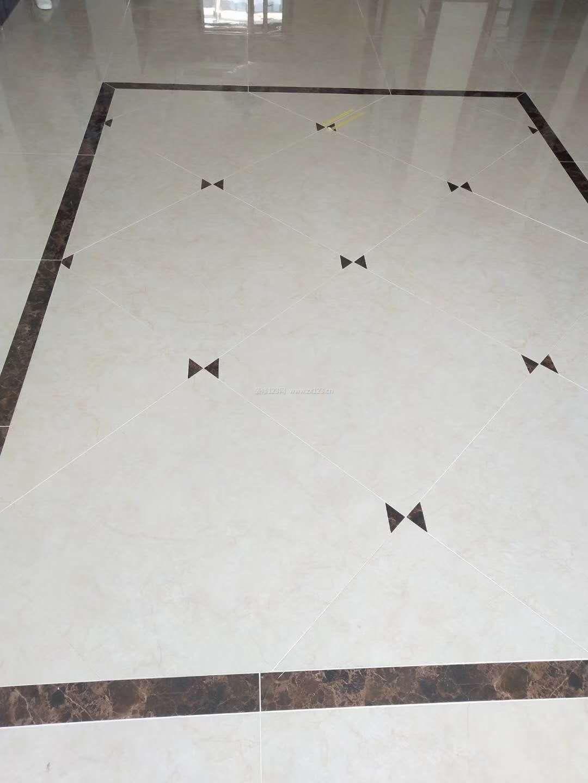 2018简约新中式客厅地板砖铺贴装修效果图