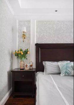 2018美式混搭卧室床头壁灯装修效果图图片