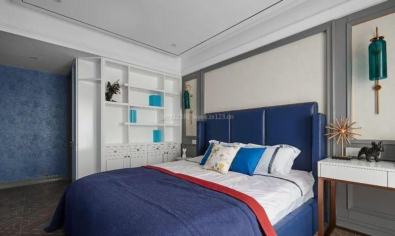 2018现代法式风格家庭主卧室装修效果图片