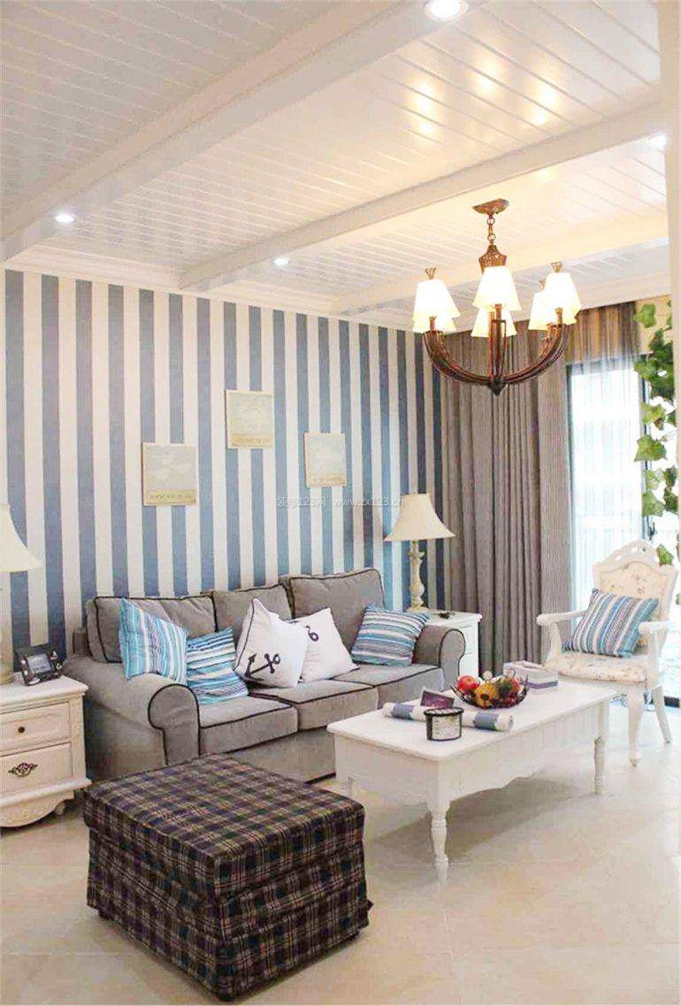 2018地中海风格简约温馨客厅装修设计图片